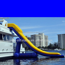 2015 popular 300m inflatable water slide placed on the cruise ship for adult