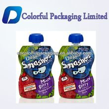 Doypack promotion liquid fruit juice mix berry spout pouches for liquid water spout bags