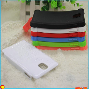3D 2 in 1 sublimation phone case for samsung note 3 mobile phone shell