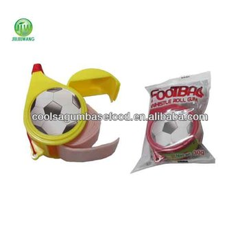 JJW 30g sport football whistle rollz fruit bubble roll gum
