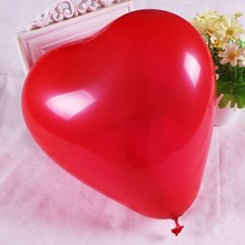 2016 hot sale10'' multi-color heart shape customized printing latex balloon