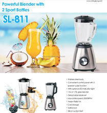 Powerful blender with 2 sport bottles for Germany market