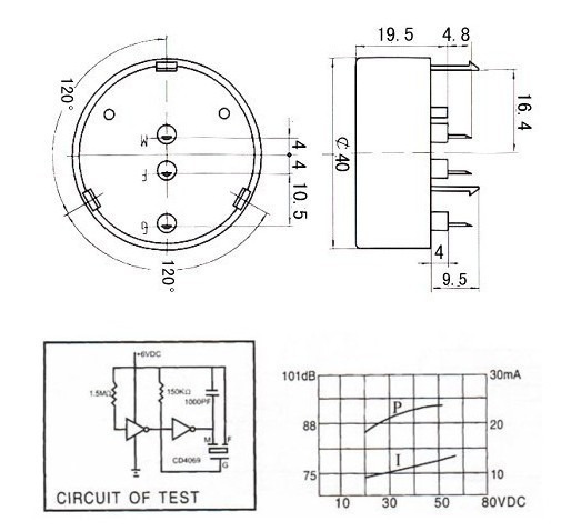 gtt-4010 circuit breaker buzzer 90db piezo buzzer wireless waiter call system