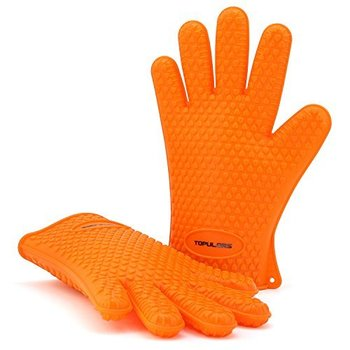 2019 Amazon Silicone Grilling Gloves Oven Mitts Gloves Potholders for Cooking Baking Barbecue