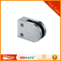 China hot sale glass clamp for handrail post, stainless steel glass clamp