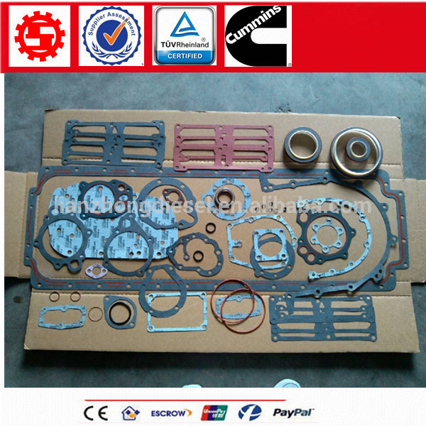Motor Cummins NT855 diesel engine parts set lower gasket kit 3014459