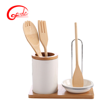 Ceramic chopsticks , sala spoon holder & soup spoons holder with base
