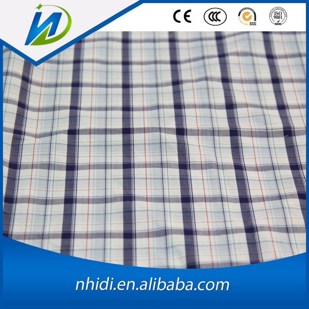 100 combed cotton yarn dyed check shirt poplin fabric wholesale