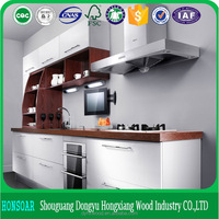 2016 modern design modular solid wood kitchen cabinet made in china