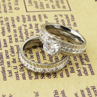 New Arrival Wide Finger Titanium Ring for Man 2015 CZ Diamond for Man Wedding Jewelry