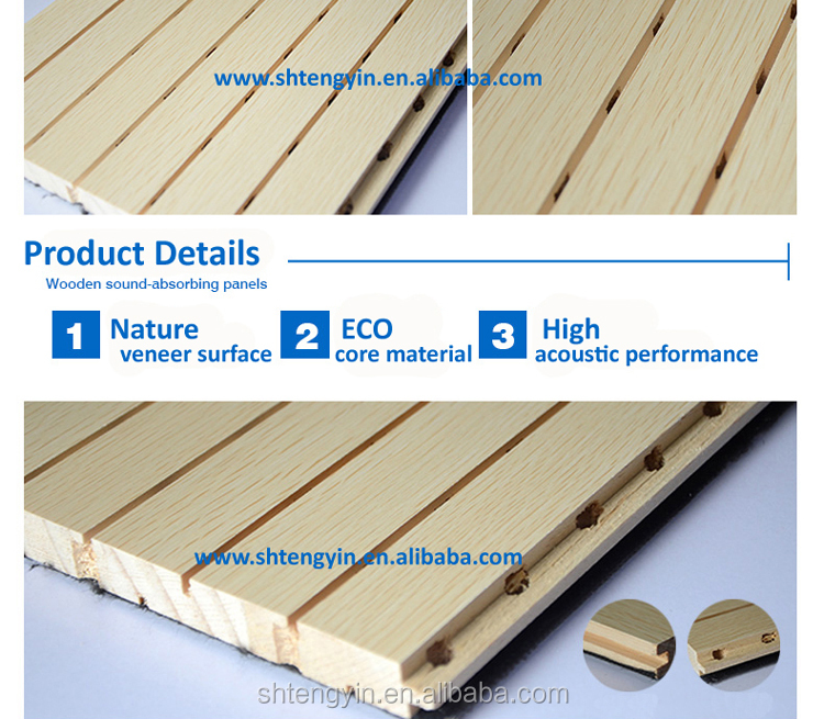 Europe market MDF acoustic absorption panels for gynasium interior wall decoration