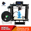 Anycubic Developed prusa i3 3D metal printer with function of resume work from poweroff