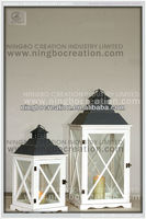 HOT and NEW decorative white wooden lantern, antique wood lantern