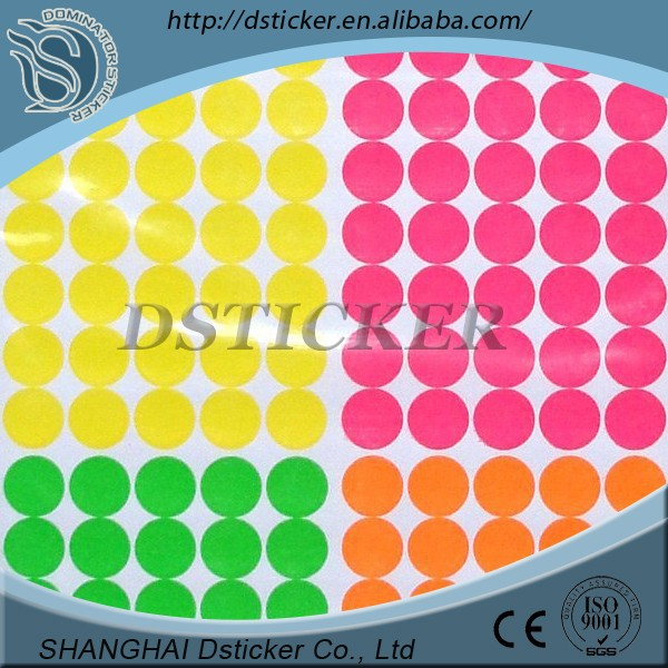 China factory cheap colorful round shape vinyl sticker for Children's book
