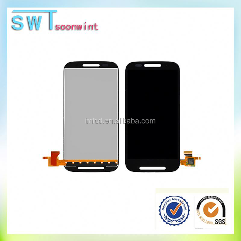 High quality for motorola moto e lcd with touch screen xt1021 xt1022 xt1025 accept paypal
