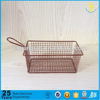 sgs certification stainless steel Mini frying fish basket/french fries basket
