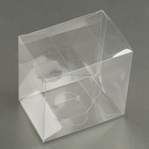 Transparent display plastic folding acetate packaging boxes for cake good glue quality for food grade clear acetate food boxes