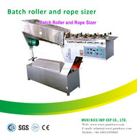 Food processing machine lollipop batch roller and rope sizer machine
