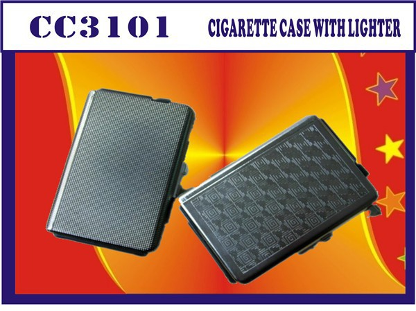 FACTORY DIRECTLY!! promotional gift cigarette box with lighter