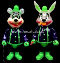customized plastic toy manufacture rabbit for show and for kids to play