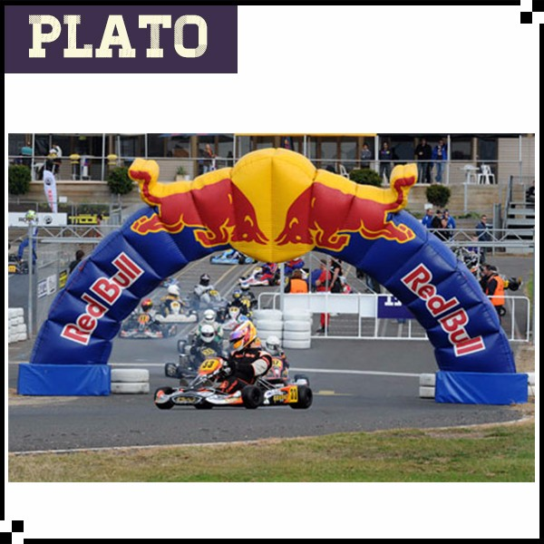 Red bull inflatable special shaped arch/inflatable special shaped arch for game