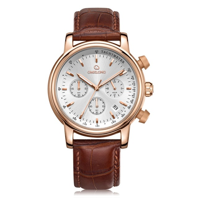 luxury rose gold men watch chronograph multifunction watch