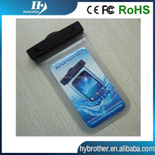 PVC diving bag for iphone 6 Samsung smart mobile phone bag ABS clip IPX8 waterproof case