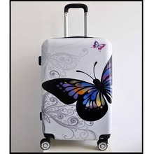 new 100% Polycarbonate PC luggage travel bags carry on luggage Cheap and smart hard PC luggage set