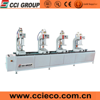 American Type upvc window making machine for four Head Welding pvc Window and Door