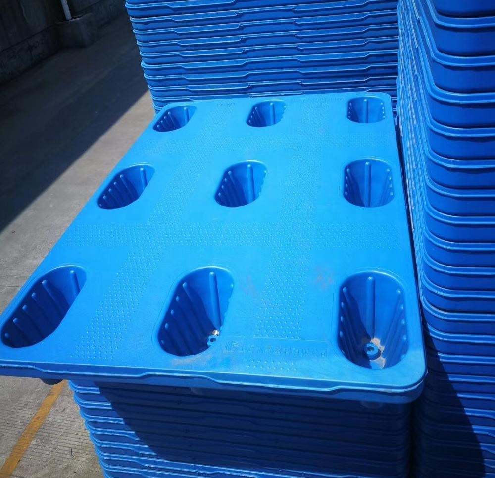 1000*1000 pallet with high strength blow molding plastic pallet
