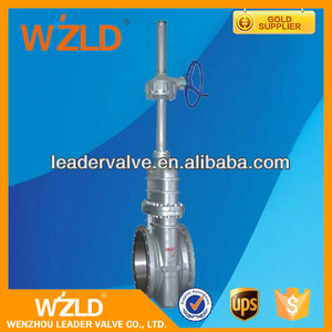 WZLD Heavy Duty OEM Raised Face Flange Handweel Operated Industrial Safty Knife Gate Valve
