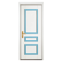 Popular Single Wooden Interior Flush Door Design With Sliding Door Lock YH-712