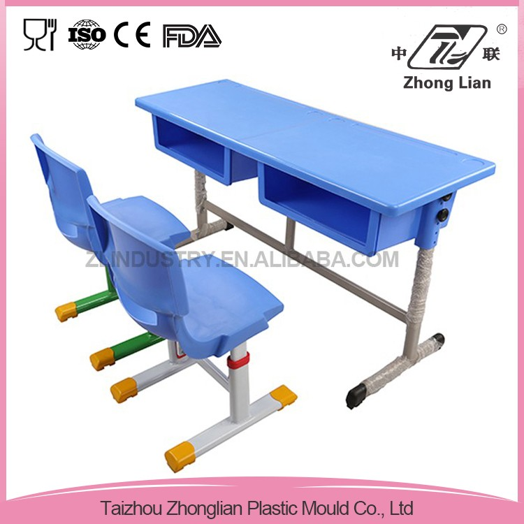 China market new design top quality folding school chair desk