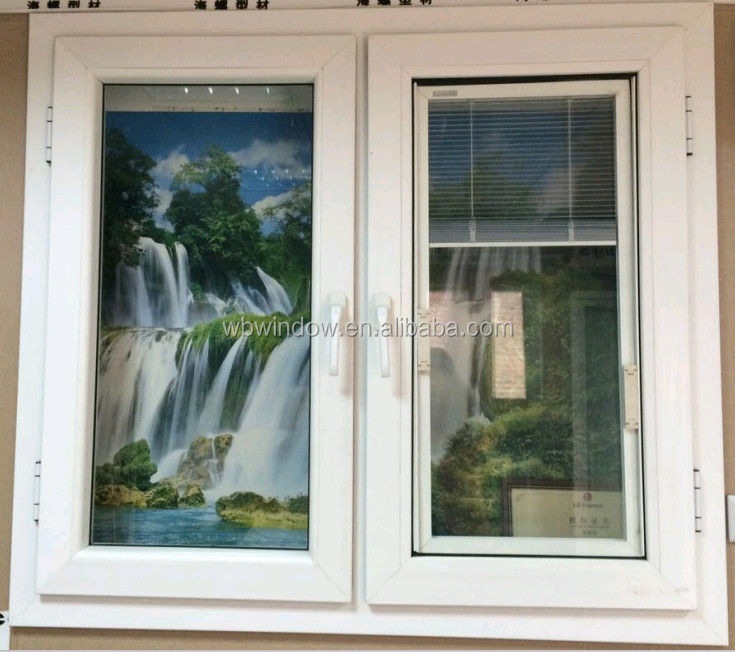 optical window,blind inside double glass window