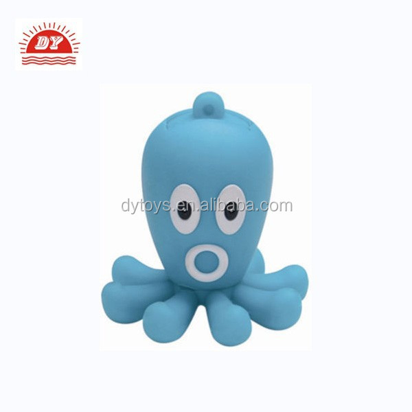 ICTI certificated custom rubber toy flashing octopus