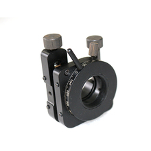 Optical lens mount with 2 adjusters