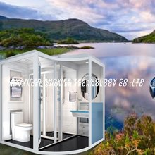Fashionable and luxury prefab modular bathroom with shower cabin
