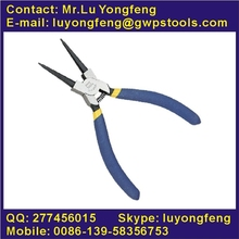 Finely polished American style snap ring pliers, internal straight,with double dip handle