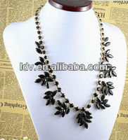 Brand name acrylic necklace Shining elegant party jewelry accessary N0082