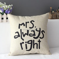 M-Series heart shape Home Textile Wholesale Decorative Pillow Covers Cotton Linen Cushion Cover