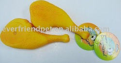 plastic toy-little chicken leg,promotion gift,dog product