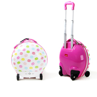 Kids luggage travel trolley suitcase for self-walking