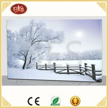 wholesale inkjet print painting led canvas , snow scenery painting image