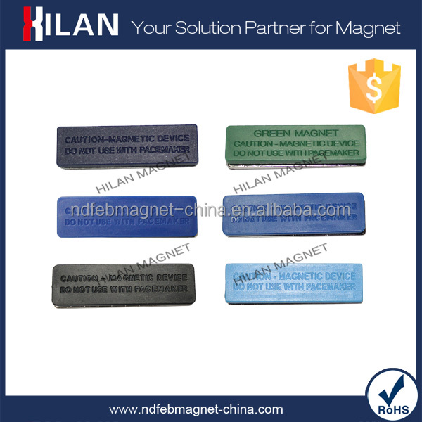 Neodymium Disc Magnet Strong Holding Force Resuable Plastic Magnetic Name Badge