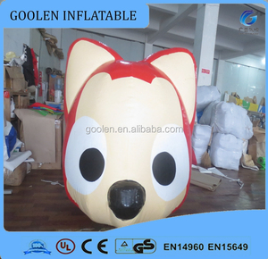 New promotional lovely inflatable fox animal model for sale