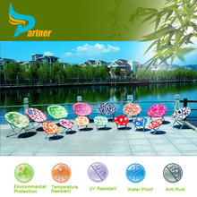 Adult Camping Round Folding Chairs Outdoor Colorful Kids Moon Chair