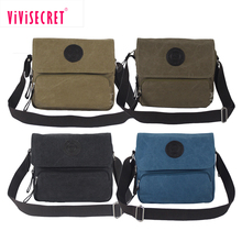 Fashion designer shopping vintage style canvas bag waxed canvas shoulder messenger bag