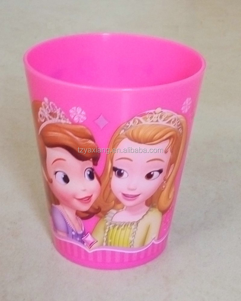 in mold label plastic water cup for kids