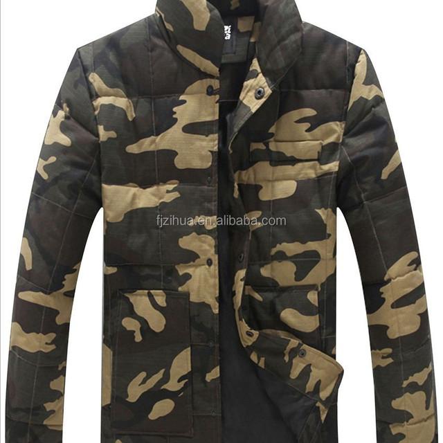 Army Camouflage Men winter Woodland jacket
