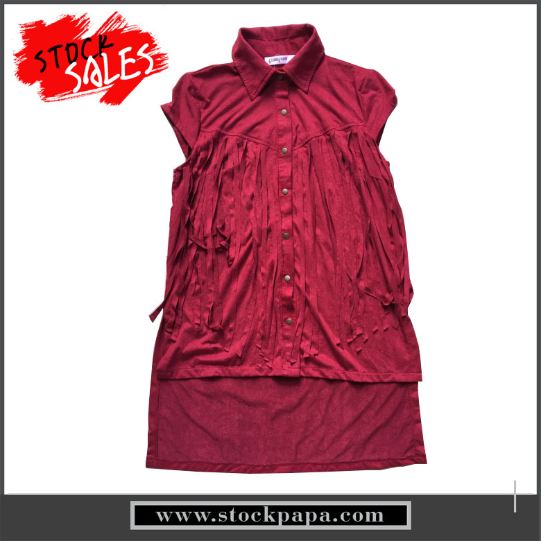 New design ladies summer fashion red long shirt